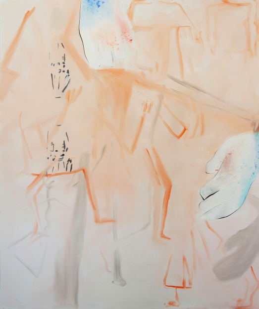 clumsy hands, 200 x 170 cm, oil on canvas, 2018