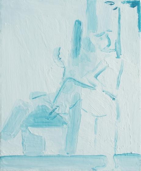corner's gesture, oil on canvas, 30 x 24 cm, 2018-