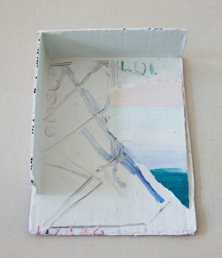 model, oil on cardboard, 20 x 14 x 3 cm, 2018